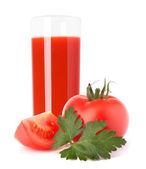 Vaso de jugo de tomate — Foto de Stock