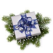 Caixa de presente prata — Foto Stock