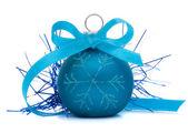 Palla di natale blu — Foto Stock