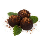 Chocolate truffle candy — Stock Photo