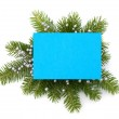 Christmas decoration with greeting card — Stock Photo #14224715