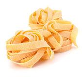 Italian pasta fettuccine nest — Stock Photo