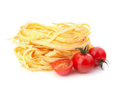 Italian pasta tagliatelle nest — Stock Photo