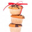 Stock Photo: Stacked muffins