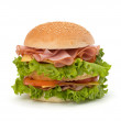 Junk food hamburger — Stock Photo