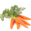 Carrot vegetable with leaves — Stock Photo #14623527