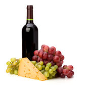 Full red wine bottle — Stock Photo