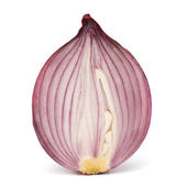 Red sliced onion half — Stock Photo