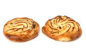 Delicious sweet cream buns — Stock Photo