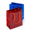 Stock Photo: Glossy festive gift bags