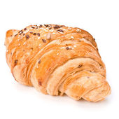Croissant isolated on white background — Stock Photo