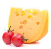 Käse und Kirschtomate — Stockfoto