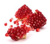 Ripe pomegranate piece — Stock Photo