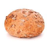 Round sandwich bun with sunflower seeds — Stock Photo