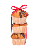 Stacked muffins — Stock Photo