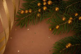 Christmas festive background with copy space — Stock Photo