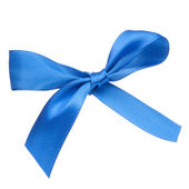 Festive blue gift bow — Stockfoto
