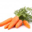 Carrot vegetable with leaves — Stock Photo #20812733