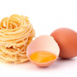 Italian pasta tagliatelle nest - Stock Photo