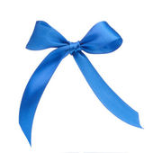 Festive blue gift bow — Photo