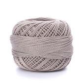 Spool of grey thread — Stock Photo