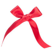 Festive red gift bow — Foto de Stock