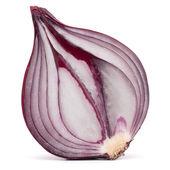 Red onion bulb half — Stock Photo