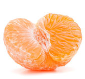 Peeled tangerine or mandarin fruit half — ストック写真