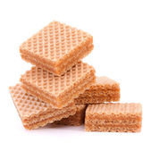 Wafers or honeycomb waffles — Stock Photo