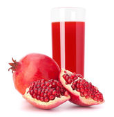 Pomegranate fruit juice in glass — Stock Photo