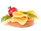 Otevřít zdravé sendvič — Stock fotografie