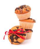Staplade muffins — Stockfoto
