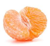 Peeled tangerine or mandarin fruit half — Foto Stock