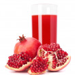 Pomegranate fruit juice in glass — Stock Photo #29306787