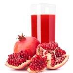 Pomegranate fruit juice in glass — Stock Photo