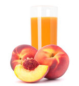 Suco de fruta pêssego em vidro — Foto Stock