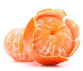Tangerina descascada ou fruta mandarim — Foto Stock