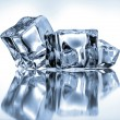 Ice cubes on blue background   — Stockfoto