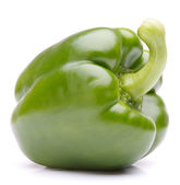 Green sweet bell pepper isolated on white background cutout — Stock Photo