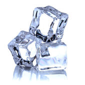 Ice cube isolated on white background cutout — Stock Photo
