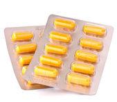 Medicament caplet blister — Stock Photo