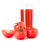 Tomato vegetable juice in glass — Stock Photo