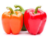 Sweet bell pepper isolated on white background cutout — Stock Photo