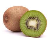 Plasterki kiwi owoc połowa — Zdjęcie stockowe