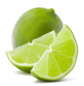 Citrus lime fruit isolated on white background cutout — 图库照片