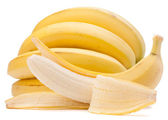 Bananas bunch isolated on white background cutout — Stock Photo