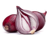 Red onion bulb half — Stock Photo