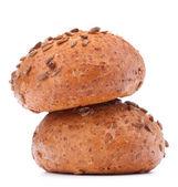 Dvě hamburger bun nebo roll s sezamová semínka výřez — Stock fotografie