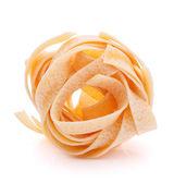Italian pasta fettuccine nest  — Foto de Stock