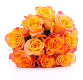 Yellow rose flower bouquet — Stock Photo
